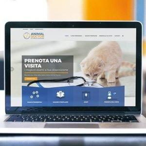 animal doctor web site laptop