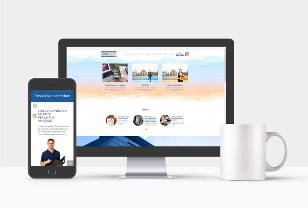 job talent campagna lancio sito web responsive