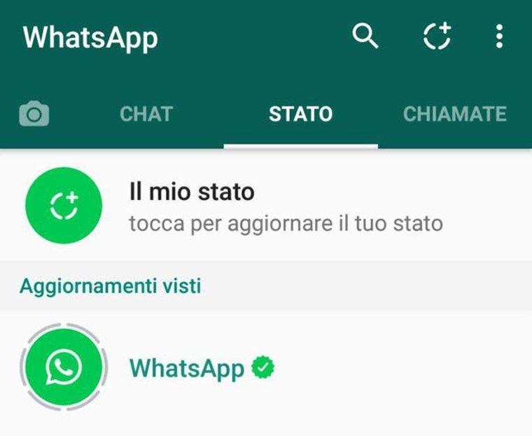 cambio stato su whatsapp