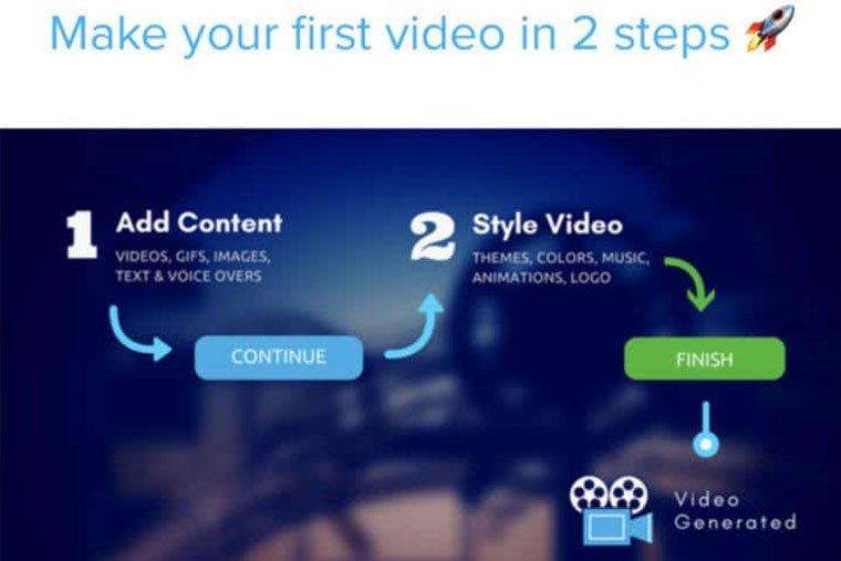 creare video per facebook con Rocketium
