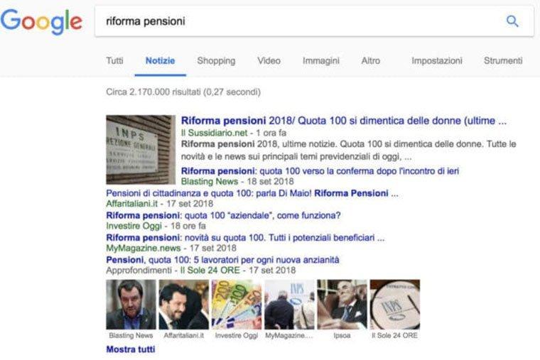 legge sul copyright per ricerche google
