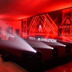 Andrew & Sax convention palco