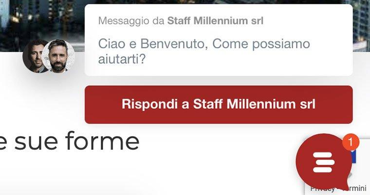 live chat Staff Millennium ridotta a icona