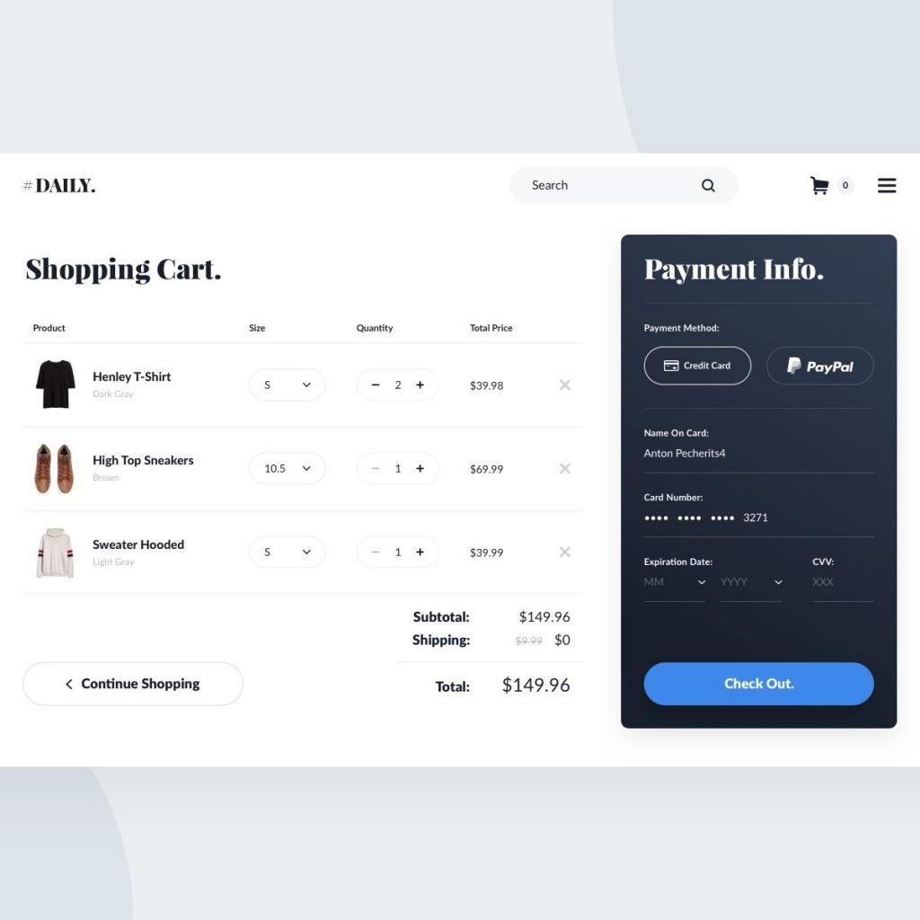 e-commerce carrello