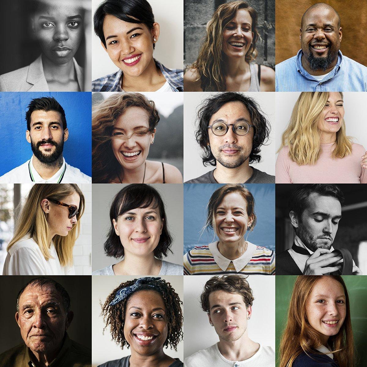 Fotografie di diverse persone