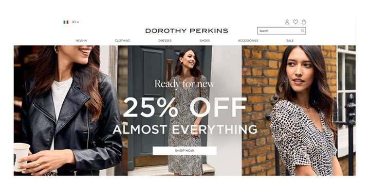 Ecommerce e Facebook Ads Dorothy Perkins