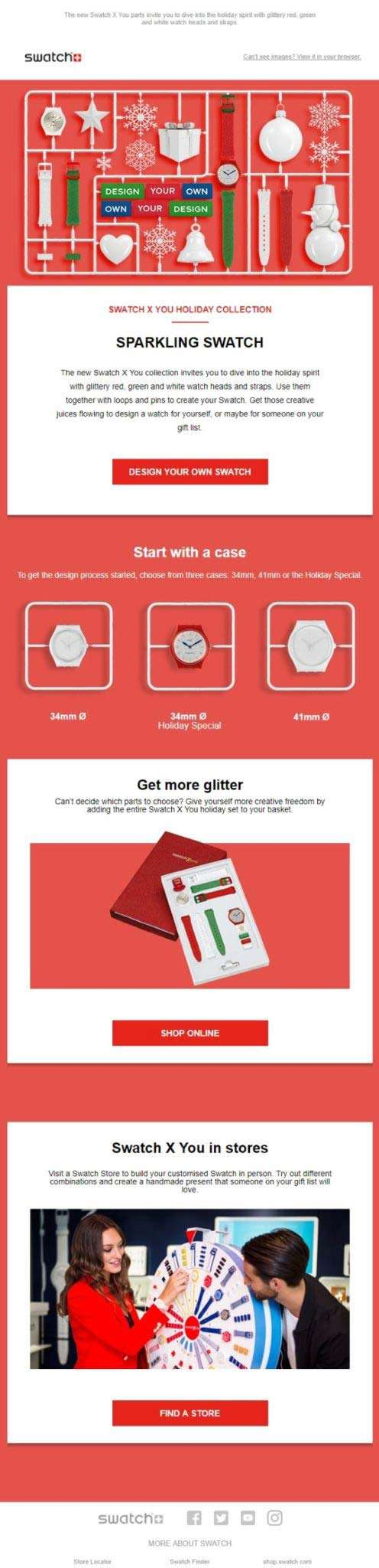 natale e newsletter Swatch